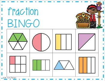 Pirate Fraction Bingo