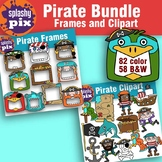 Pirate Frame and Clipart Bundle