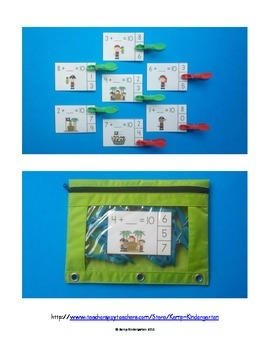 Pirate Friends of 10 Addition Clip Cards