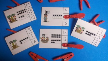 Pirate Fun Count and Clip Cards (Quantities to 20)