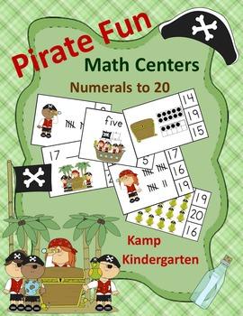 Pirate Fun Math Centers (Numerals to 20)