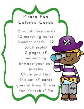 Pirate Fun Printable Add on