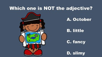 Pirate Fun With Adjectives - A PowerPoint Game