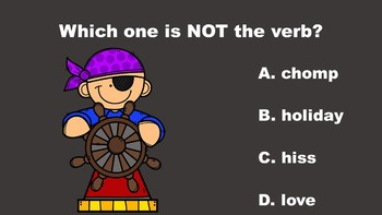Pirate Fun With Verbs - A PowerPoint Game