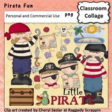Pirate Fun with Glitter Jewels Clip Art personal & commerc