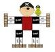 """Pirate"" Gallon Man Capacity (Measurement) Craftivity and"