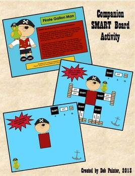 """Pirate"" Gallon Man Capacity (Measurement) SMART Board Activity"