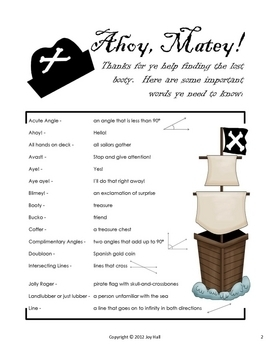Pirate Geometry BINGO