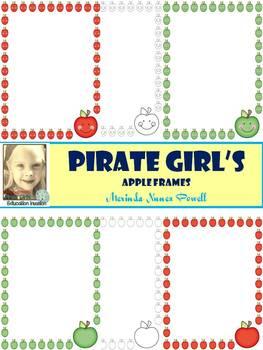 Pirate Girl's Apple Frames
