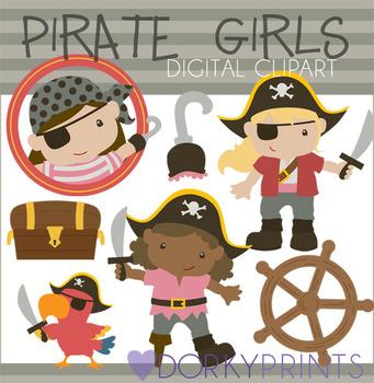Pirate Girls Digital Clip Art