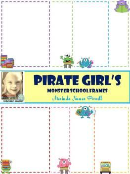 Pirate Girl's Monster School Frames