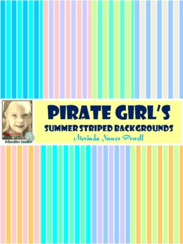 Pirate Girl's Summer Striped Backgrounds
