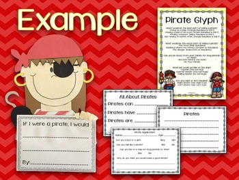 Pirate Glyph & Writing Craftivity