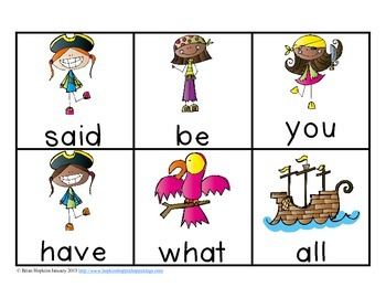 Pirate Gold Rush - a Sight Word Game