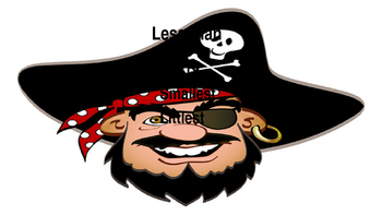 Pirate Greater Than Less Than Anchor charts