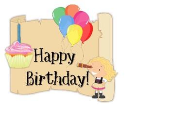 Pirate Happy Birthday sign FREEBIE