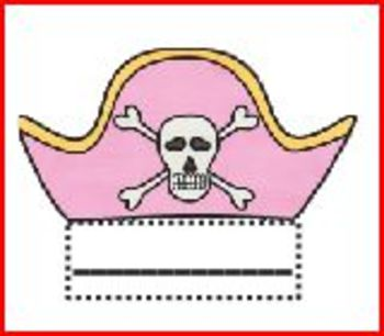 Pirate Hat Name Tags