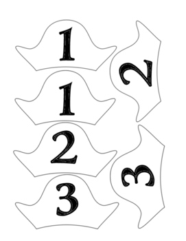 Pirate Hat Table Numbers - 2 Sizes