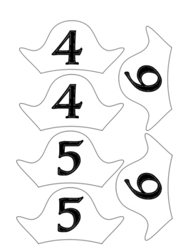 Pirate Hat Table Numbers