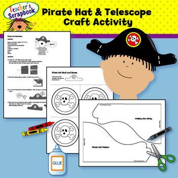 Pirate Hat & Telescope Craft Activity