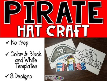 Pirate Hats Template and Craft - Pirate Week
