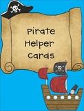 Pirate Helper Cards (2 Font Choices-CK Handprint and Comic Sans)