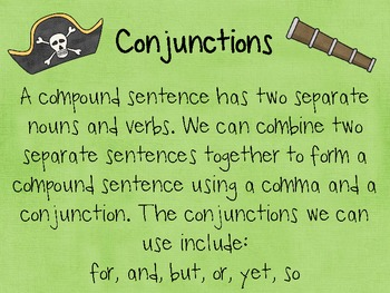 Pirate High Seas Conjunctions: Activity for Language Therapy