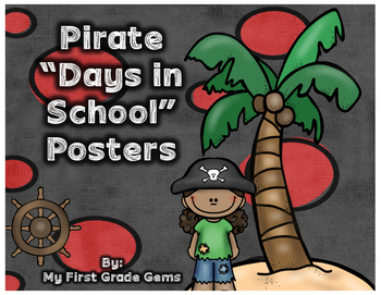 "Pirate ""How Many Days In School?"" Freebie!"