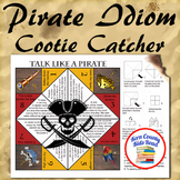 Pirate Idiom Cootie Catcher Distance Learning Printable -