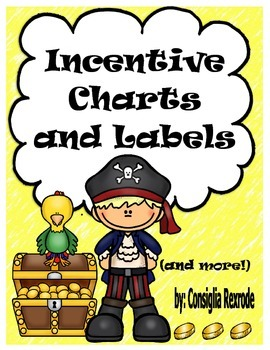 Pirate Incentive Charts and Labels to Support Classroom Management