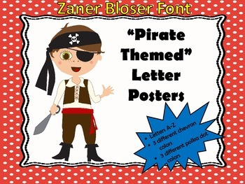 """Pirate"" Inspired Alphabet Posters...Zaner Bloser Font"