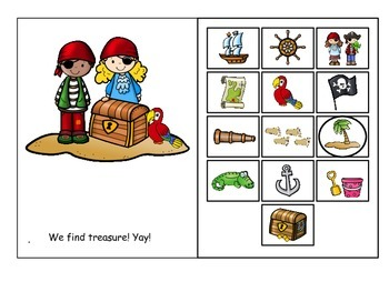 Pirate - Interactive Adapted Vocabulary Book (Preschool, SLP, Autism)