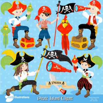Clipart, Pirate Island Clipart AMB-173