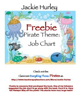 Pirate Job Chart Pirate Pirate Pirate   Beginning of Schoo