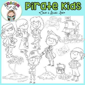 Pirate Kids Clip Art