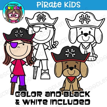 Pirate Kids Clipart {Scrappin Doodles Clipart}