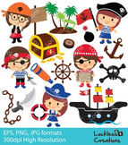 Pirate Kids Digital Clip Art (ED)