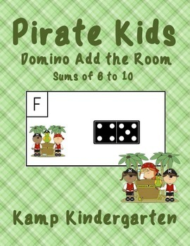 Pirate Kids Domino Add the Room Sums of 6 to 10 FREEBIE