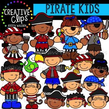 Pirate Kids: Pirate Clipart {Creative Clips Clipart}