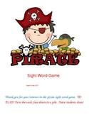 Pirate Kindergarten Sight Word Game