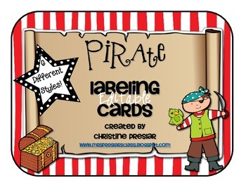 *Editable* Pirate Labeling Cards