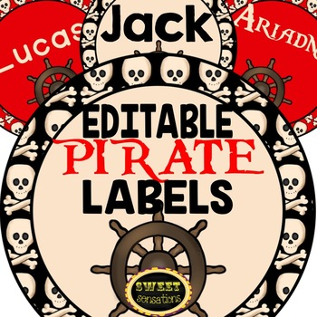 Pirate Labels (EDITABLE)
