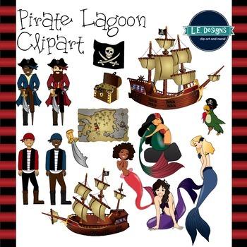 Pirate Lagoon Clipart {L.E. Designs}