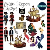 Pirate Lagoon Clipart {L.E. Designs}