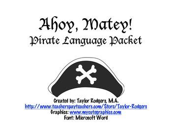 Pirate Language Packet