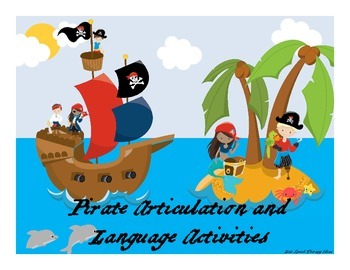 Pirate Language and Articulation Activities for Mixed Groups and RTI