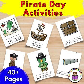 No Prep Pirate Lesson Activities for Preschool/Kindergarten