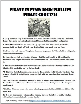 Pirate Lesson Plan Collection