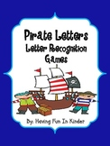 Pirate Letter Matching and Recognition Activities