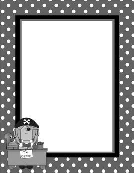 Pirate Letterhead - Teacher